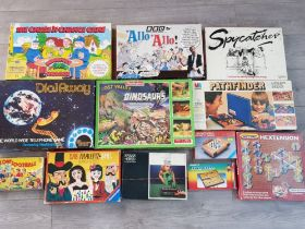 12 boxed vintage games including 2x Waddingtons titles Lost Valley Dinosaurs & Dial Away etc