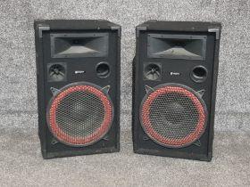 2 x Skytec 1000w speakers