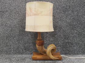 Rams horn table lamp by Ciotach crafts