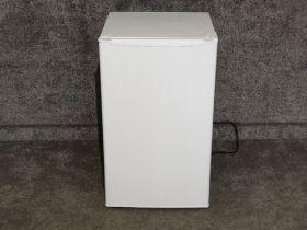 Essentials white under bench fridge