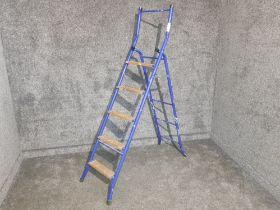 Blue step ladders