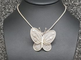 Silver 925 chain with butterfly pendant