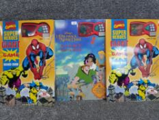 2 copies of Marvel comics super heroes 6 in 1 game board book also includes Disney's the hunchback