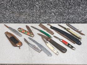 Various Pocket knives (10+)