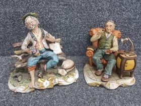 CAPODIMONTE x2 figures