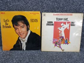 2x LP records includes RCA Lets be friends by Elvis Presley and Barbra Streisand Funny Girl