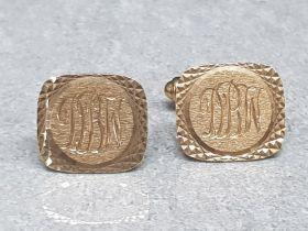 Gents 9ct gold cufflinks (7.6g)