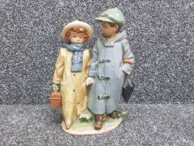 """Lladro gres 2242 """"away to school"""" in good condition"""