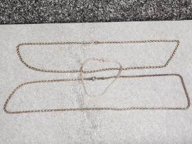 2 silver 925 necklaces and 1 silver bracelet, 20G