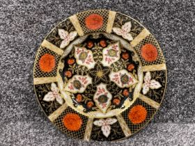 Royal Crown Derby Abbeydale Imari patterned plate. (23cms) good condition