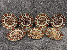 Royal Crown Derby Imari patterned plates x7 (16cms)