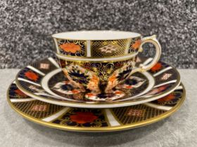 Royal Crown Derby Imari patterned trio's x4. In good condition