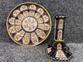 Masons ironstone limited edition wall plate and also Masons ironstone candle holder.