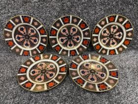 Royal Crown Derby Imari patterned plates x5 (16cms)