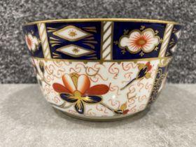 Royal Crown Derby Imari patterned bowl. (15cms)