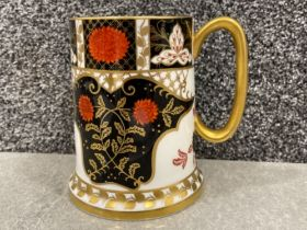 Royal Crown Derby Abbeydale Imari patterned Tankard. (12.5cms) in good condition