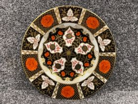 Royal Crown Derby Abbeydale Imari patterned plate. (27.5cms) has small chip on back
