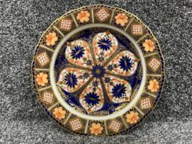 Royal Crown Derby Imari patterned plate x2 in good condition