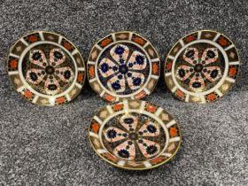 Royal Crown Derby Imari patterned teacup saucers x4. (16.5cms)