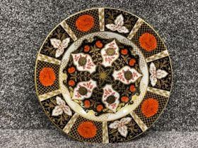 Royal Crown Derby Abbeydale Imari patterned plate. In good condition (27.5cms)