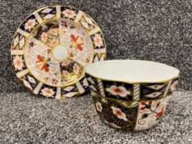 Royal Crown Derby Imari patterned plate and bowl. In good condition