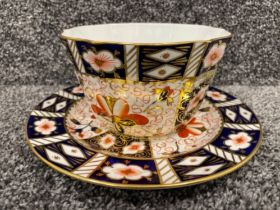 Royal Crown Derby Imari patterned bowl and plate. In good condition