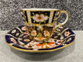 Royal Crown Derby Imari patterned x4 tea cup and saucers