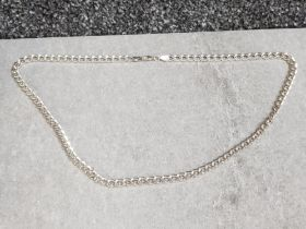 Silver curb necklace, 30 4g