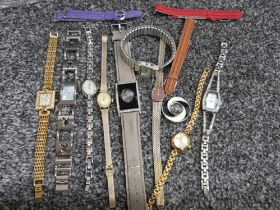 A total of 10 ladies wristwatches including playboy, Citron, Sekonda etc also includes 3 extra