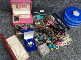 Selection of miscellaneous costume jewellery mainly necklaces also includes bangles & jewellery