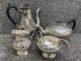 Wonderful quality silver plated tea service Marlboro heavy plate on copper