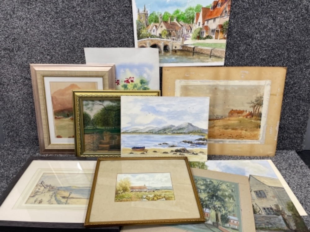 Portfolio of watercolours dating from 1927