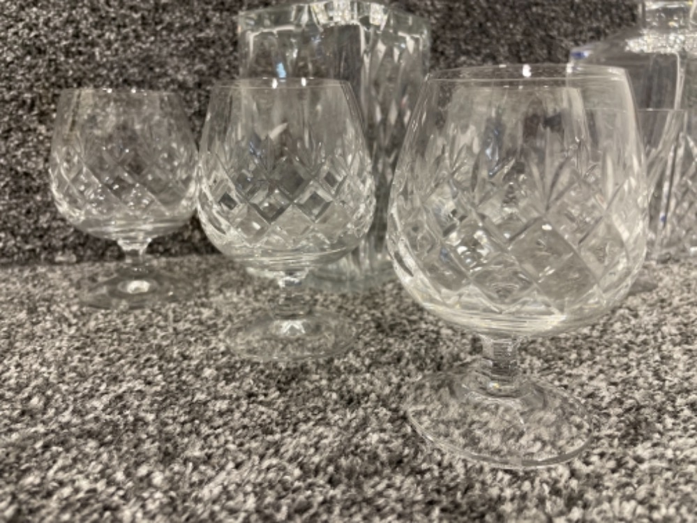 Brandy and Whisky decanters with glasses and goblets - Image 2 of 3