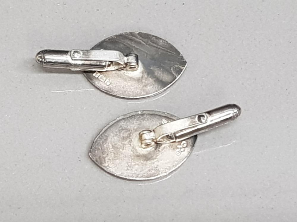 Hallmarked pair of silver Irish masonic cufflinks - Image 2 of 3