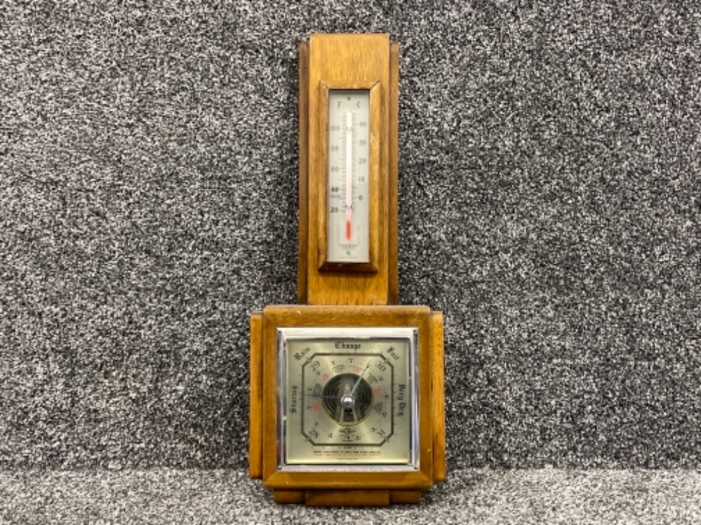 Barometer, Brass kettle on stand and brass water jug - Image 4 of 5