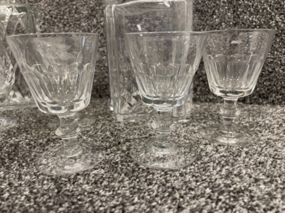 Brandy and Whisky decanters with glasses and goblets - Image 3 of 3