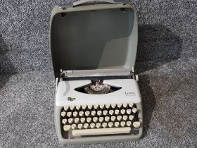 Vintage Adler Tippa 1 typewriter in carry case