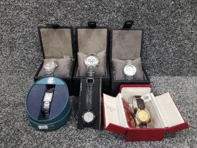 6 assorted watches in boxes