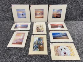 Vivienne Ann Dykes signed prints unopened of local interests