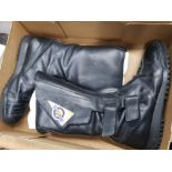 Giemme motorcycle boots in black, size 10, boxed