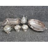 Selection of good silver plated hollow ware including superb viners centre bowl, cake plate etc