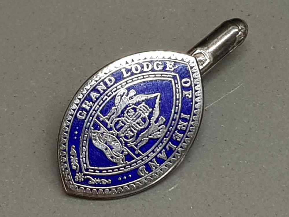 Hallmarked pair of silver Irish masonic cufflinks - Image 3 of 3