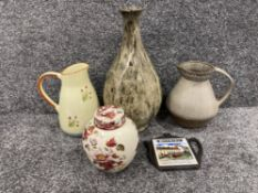 Miscellaneous pottery including Masons (Mandalay red)