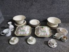 A pair of Copeland Spode tureens, a Minton part dinner service, two co-operative society cups and