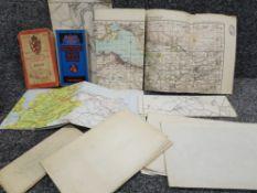 A collection of vintage ordnance survey maps, scotland etc