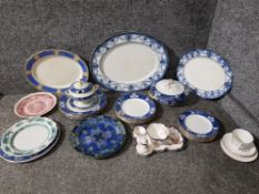 Miscellaneous China to include Copeland spode part dinner service, three meat dishes, pair of