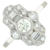 A diamond dress ring.Estimated total diamond weight 0.75ct,