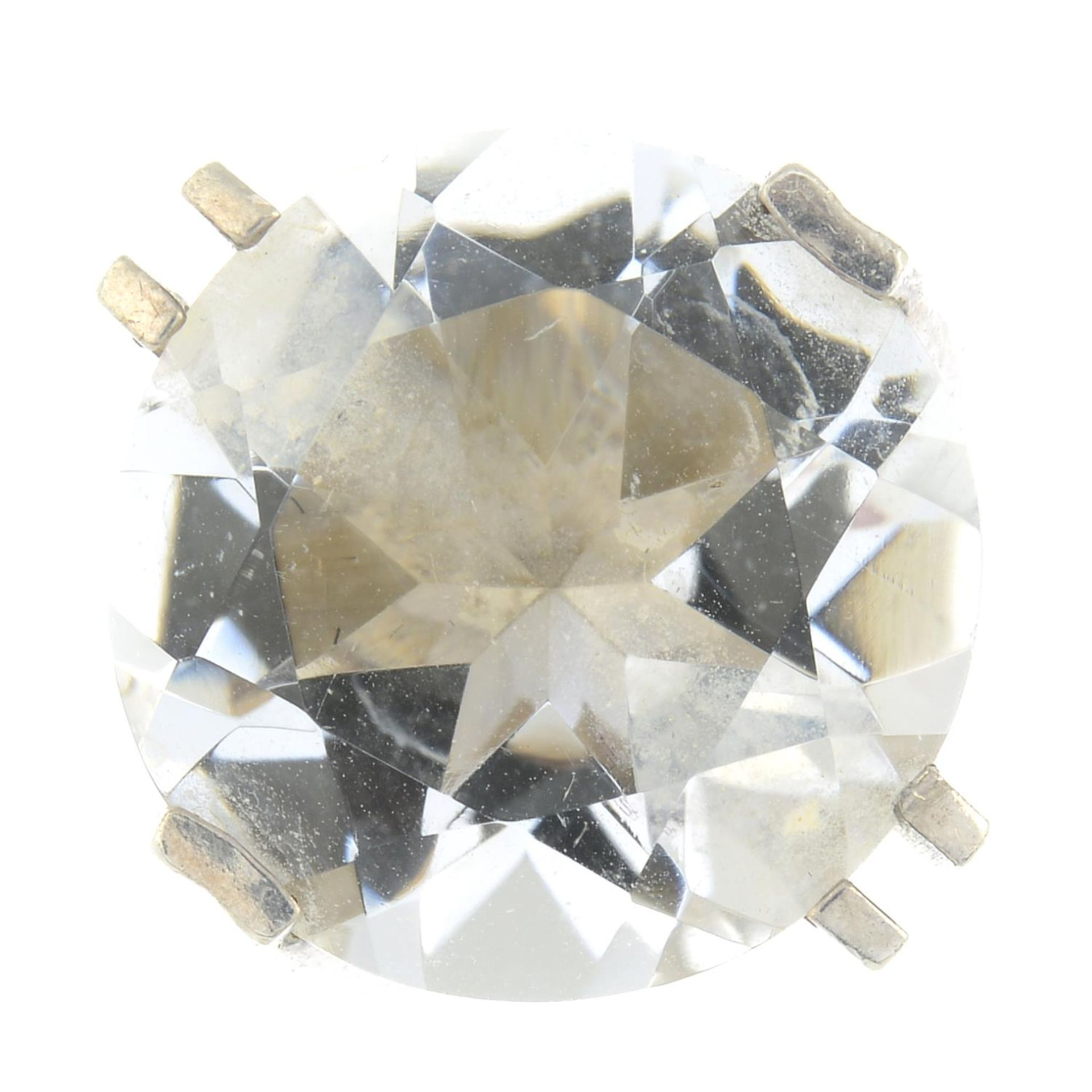 A Modernist quartz ring, by Elis Kauppi for Kupittan Kulta.With maker's marks for Kupittan Kulta.