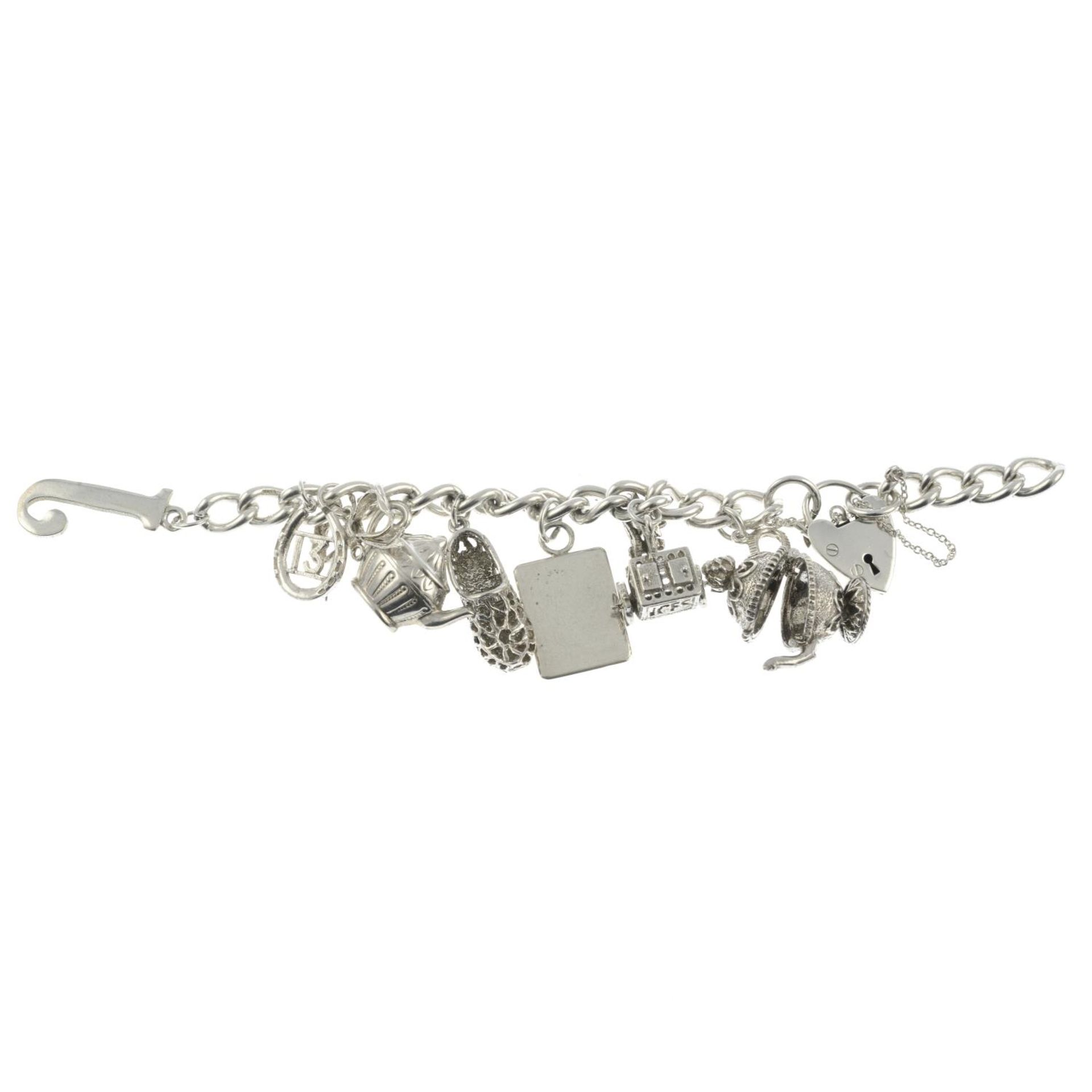 Two silver charm bracelets, a further charm bracelet and assorted charms. - Image 3 of 3