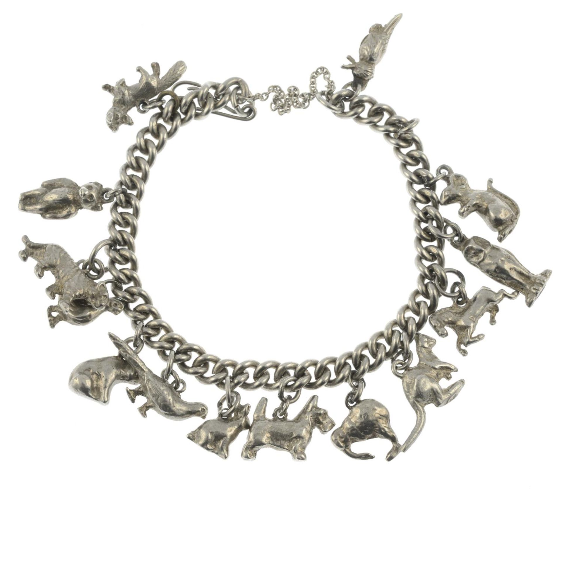 Two silver charm bracelets, a further charm bracelet and assorted charms. - Image 2 of 3